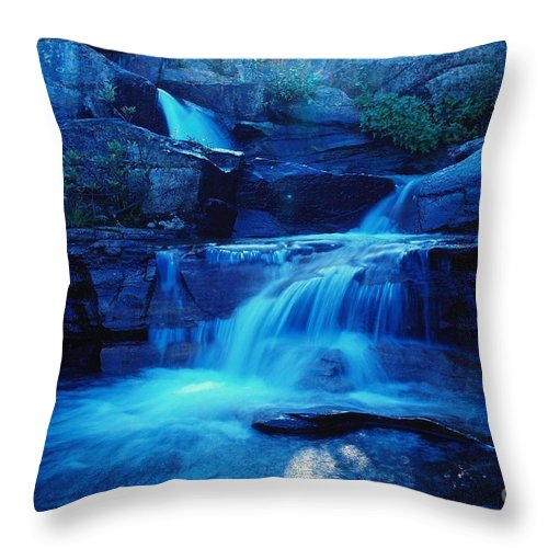 Water Throw Pillow featuring the photograph Quaint Falls by Jeff Swan