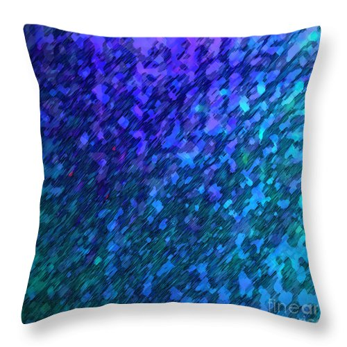 Absract Throw Pillow featuring the digital art Quiet Light by ME Kozdron