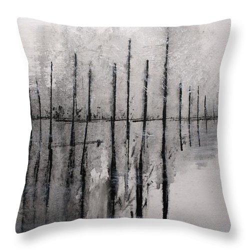 Jack Diamond Throw Pillow featuring the painting Quiet Morning by Jack Diamond