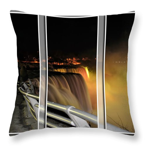 Throw Pillow featuring the photograph Quiet Thunder Triptych Series by Michael Frank Jr
