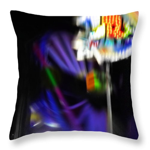 Spinning Fair Wheel Throw Pillow featuring the digital art R Eight by Charles Stuart