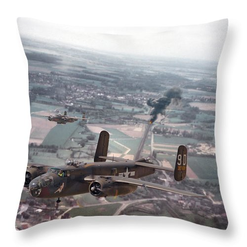 Aircraft Throw Pillow featuring the photograph Rail Strike by Pat Speirs