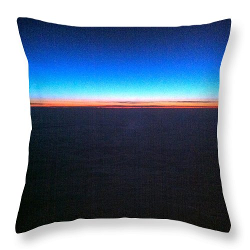 Contemporary Throw Pillow featuring the photograph Rainbow Atlantic by Kathy Corday
