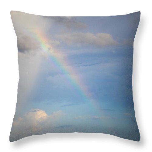 Rainbow Throw Pillow featuring the photograph Rainbow Beach by Mandy Shupp