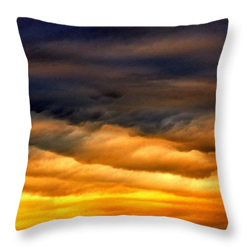 Clouds Throw Pillow featuring the photograph Rainbow Clouds by One Rude Dawg Orcutt