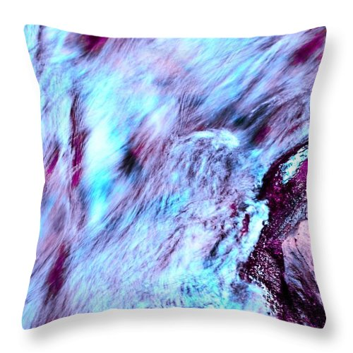 Letchworth Throw Pillow featuring the photograph Rainbow Colors by Kathleen Struckle