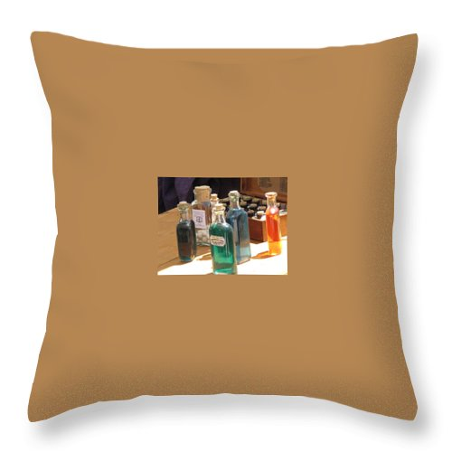 Medicine Throw Pillow featuring the photograph Rainbow Elixirs by Michele Nelson