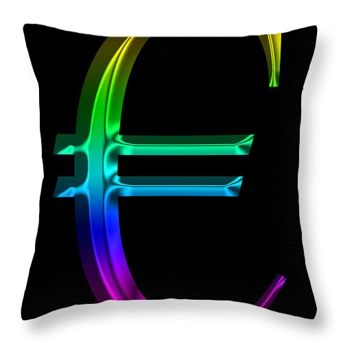 Euro Throw Pillow featuring the photograph Rainbow Euro by Andrew Fare