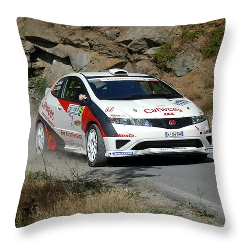 Rally Race Throw Pillow featuring the photograph Rally Race by Cliff Norton