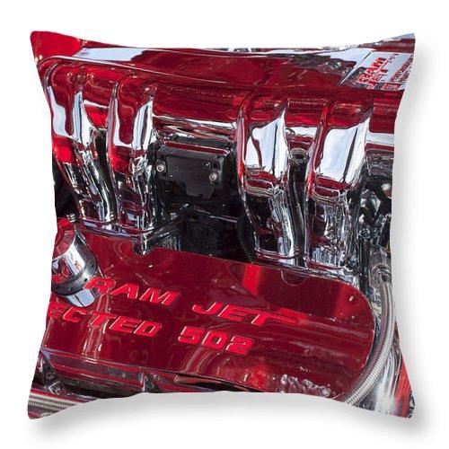 Ram Jet Pfi Gm Performance Parts Throw Pillow featuring the photograph Ram Jet Pfi Gm Performance Parts Engine by Jill Reger