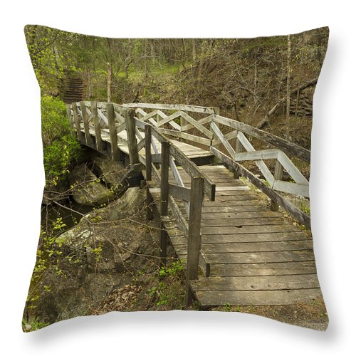 Ramsey Throw Pillow featuring the photograph Ramsey Creek Scene 12 by John Brueske