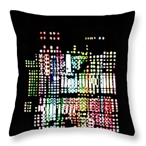 Random Cells Throw Pillow featuring the digital art Random Cells 8 by Andy Mercer