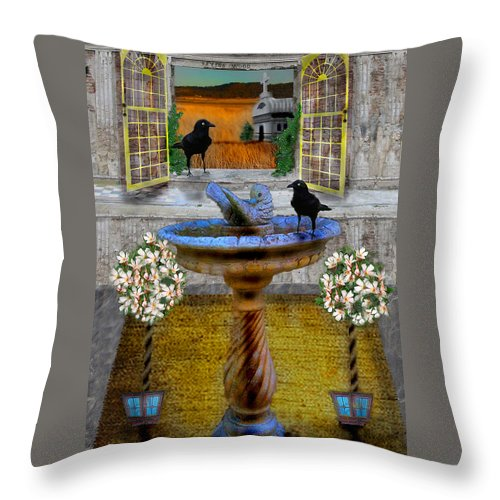 Digital Throw Pillow featuring the photograph Ravens Wood Fantasy by Nina Fosdick