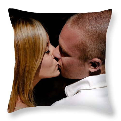 Throw Pillow featuring the photograph Rb And Jaymee I by David Patterson
