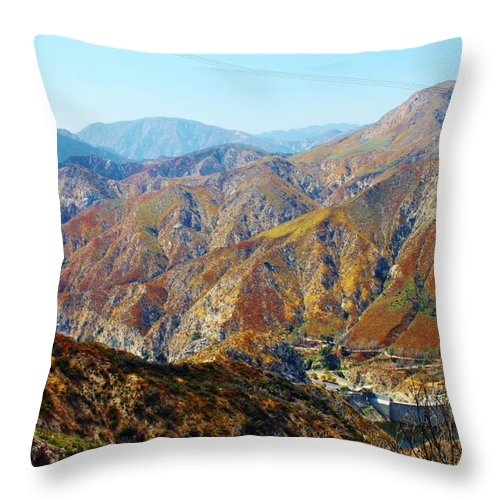 Mountains Throw Pillow featuring the photograph Recovery by Caroline Lomeli
