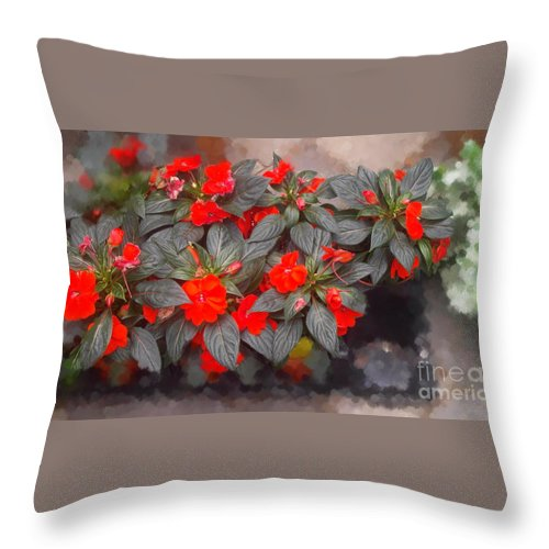 Throw Pillow featuring the photograph RED by Gwen Baptiste
