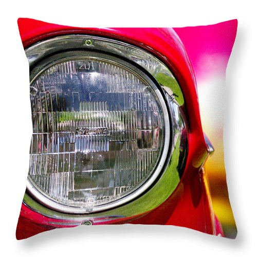Car Show Throw Pillow featuring the photograph Red Hot by Vicki Pelham
