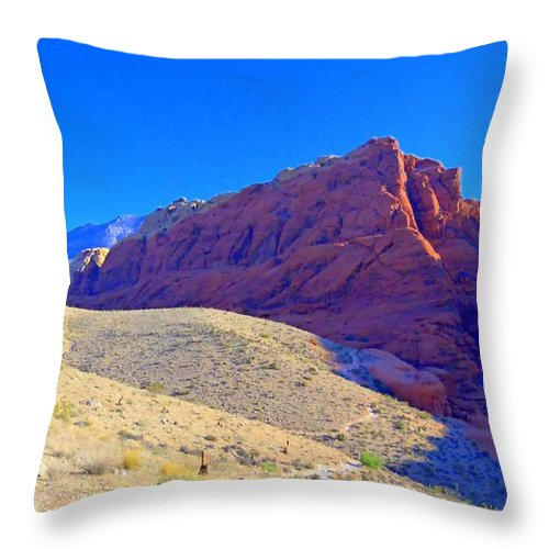 Landscape Throw Pillow featuring the photograph Red Rock Canyon 4 by Randall Weidner