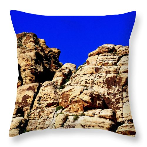 Landscape Throw Pillow featuring the photograph Red Rock Canyon 40 by Randall Weidner