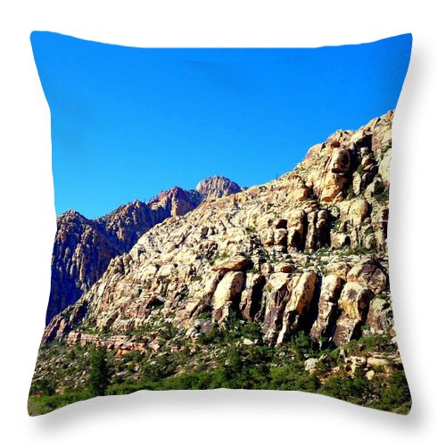 Red Rock Canyon Throw Pillow featuring the photograph Red Rock Canyon 45 by Randall Weidner