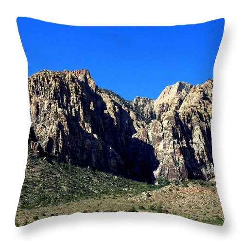 Red Rock Canyon Throw Pillow featuring the photograph Red Rock Canyon 60 by Randall Weidner