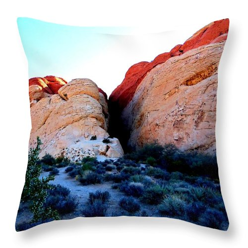 Landscape Throw Pillow featuring the photograph Red Rock Canyon 9 by Randall Weidner