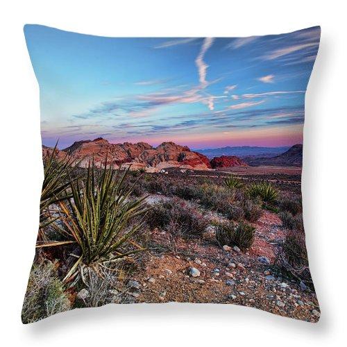 Nevada Throw Pillow featuring the photograph Red Rock Sunset by Rick Berk