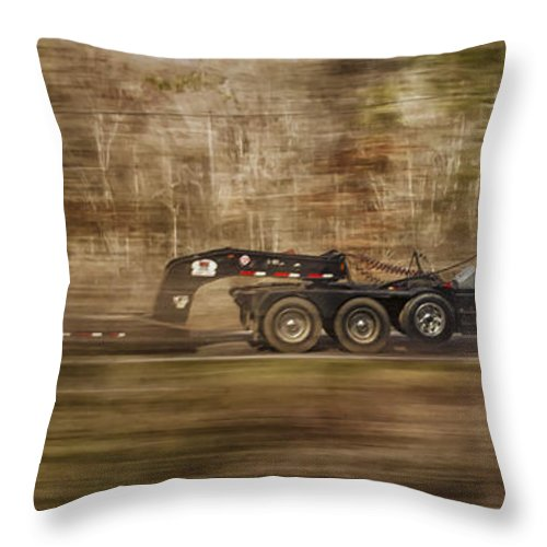 Alexandria Throw Pillow featuring the photograph Red Truck In North Carolina by Jim Moore