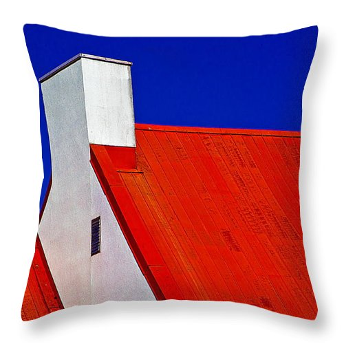 Red Throw Pillow featuring the photograph Red White And Blue by Burney Lieberman