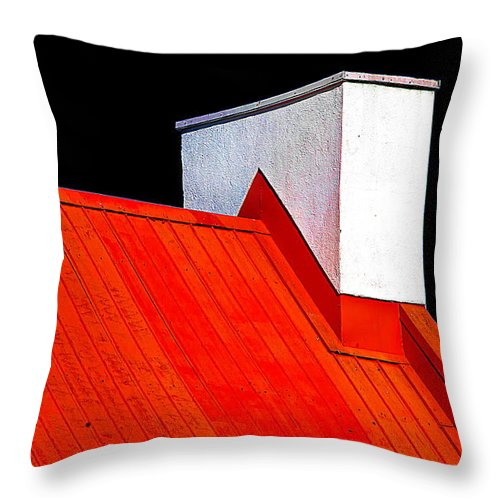 Red Throw Pillow featuring the photograph Red White Black by Burney Lieberman
