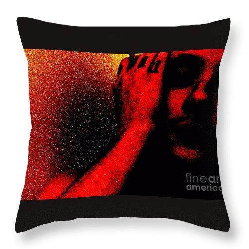 Pain Throw Pillow featuring the photograph Redlight by Meghann Brunney