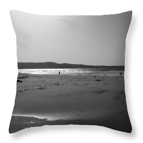 Marina Dunes Beach Throw Pillow featuring the photograph Reflecting Late Light by Kathleen Grace