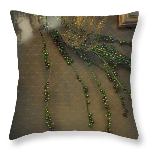 Beads Throw Pillow featuring the photograph Reflecting On Beads by Frances Hattier