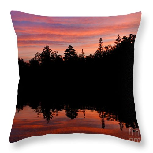 Sunset Throw Pillow featuring the photograph Reflecting Sunset by Lloyd Alexander