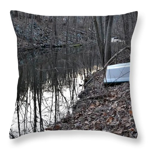 Creek Throw Pillow featuring the photograph Reflection Creek by Wanda J King