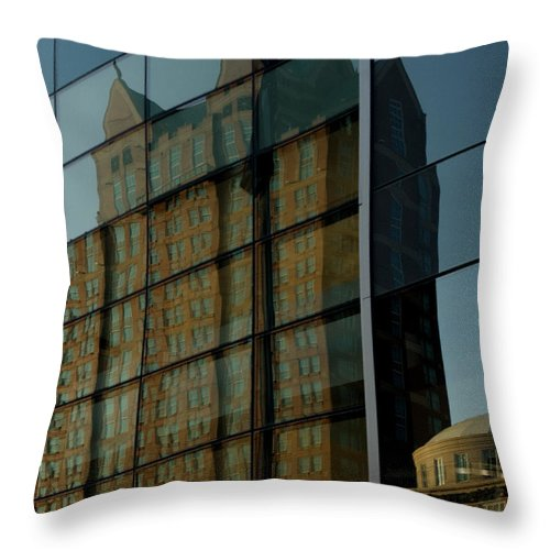 Reflections Throw Pillow featuring the photograph Reflection Of Providence by Barry Doherty