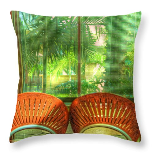 Farmers Market Throw Pillow featuring the photograph Reflections by Debra and Dave Vanderlaan
