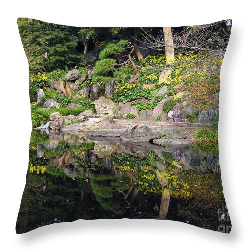 Stone Throw Pillow featuring the photograph Reflections by Eena Bo