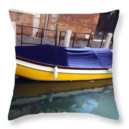 Venice Throw Pillow featuring the photograph Reflections Of Venice by Pat Purdy