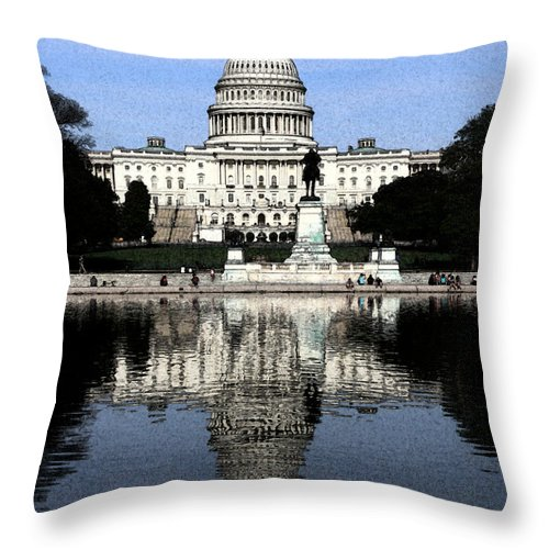 Capital Throw Pillow featuring the photograph Reflective Government by Kevin Fortier