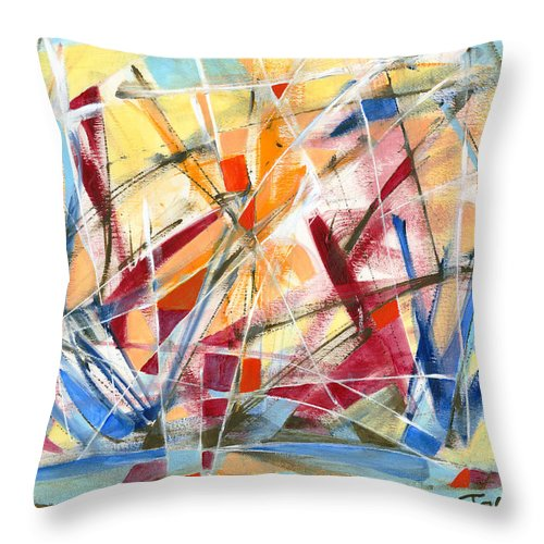 Abstract Art Throw Pillow featuring the painting Refracted Dream by Lynne Taetzsch