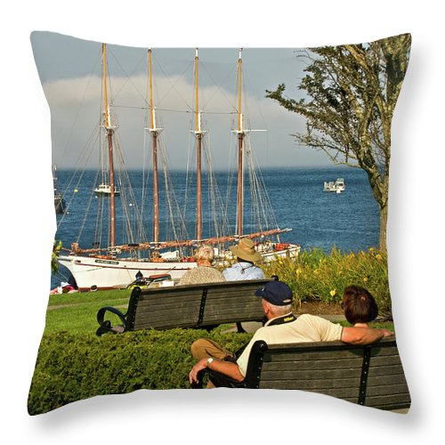 bar Harbor Throw Pillow featuring the photograph Relax by Paul Mangold