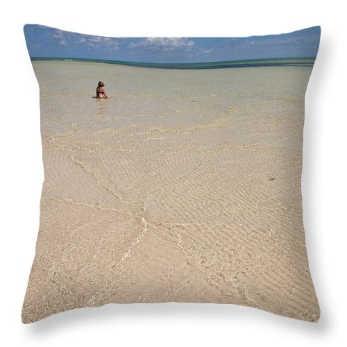 Color Image Throw Pillow featuring the photograph Relaxing In The Laguna Norte by Michael &Amp Jennifer Lewis