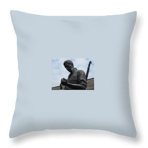 Solider Throw Pillow featuring the photograph Remember Me by Michele Nelson