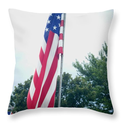 Landscapes Throw Pillow featuring the photograph Remembering 9-11 by April Patterson