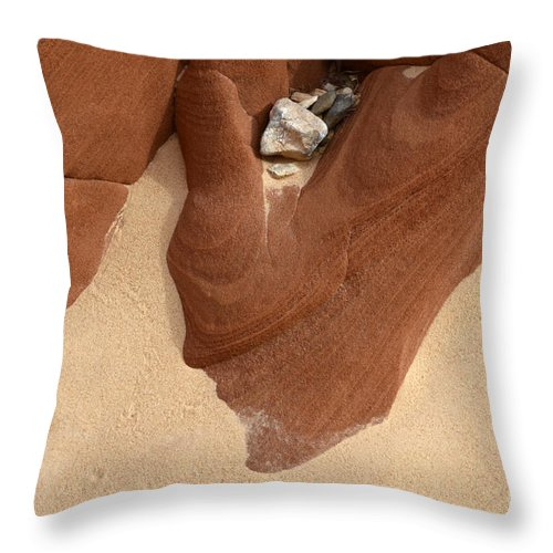 Beauty Of Sandstone Throw Pillow featuring the photograph Remnants by Bob Christopher