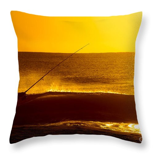 Beach Throw Pillow featuring the photograph Retirement Bliss by Jim Moore