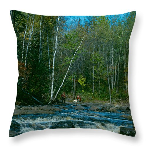 Minnesota Throw Pillow featuring the photograph Retirement Is Time For Fishing by Janice Adomeit