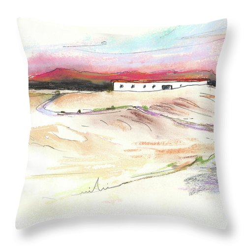 Spain Throw Pillow featuring the painting Ribera Del Duero In Spain 09 by Miki De Goodaboom