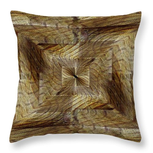 Rift Throw Pillow featuring the digital art Rift In The Sand by Tim Allen